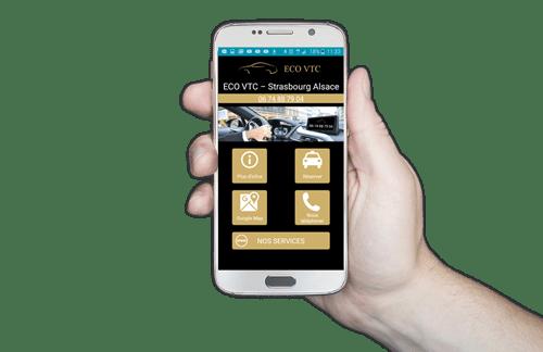 Eco VTC Strasbourg sur smartphones Android